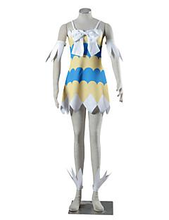 Cosplay Klær Inspirert av Eventyr Kaname Tosen Anime Cosplay-tilbehør Kjole Mer Tilbehør Hvit Gul Blå Spandex