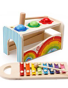 Χαμηλού Κόστους Παιχνίδι για Μωρό & Νήπιο-Σφυρηλάτηση / Λίγος παιχνίδι Τουβλάκια Παιχνίδι για Μωρό & Νήπιο Παιχνίδια Τετράγωνο Παιχνίδια Εκπαίδευση Ξύλινος Παιδικό Κομμάτια