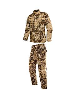 baratos Roupas de Caça-Jaqueta com Calça de Caçador Homens / Mulheres / Unisexo Respirável / Confortável camuflagem Conjuntos de Roupas Manga Longa para Caça