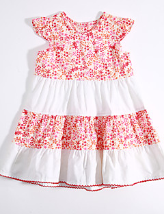 Baby Casual/Daily Color Block Print Dress,Cotton Summer-
