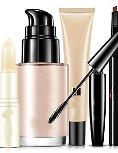 Foundation+Mascara Øjenbryn+Læbepomade Våd Øjne Ansigt Læber Dekning Concealer Naturlig