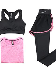 בגדי ריקוד נשים אימונית שרוול ארוך ייבוש מהיר נושם חזיות ספורט טי שירט מכנסיים מדים בסטים צמרות ל יוגה כושר גופני ריצה מודלים פוליאסטר