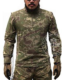 Herrn Langarm Jagd-T-Shirt Taktisch Klassisch Oberteile für Jagd Freizeit Sport Camouflage M L XL XXL
