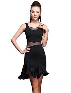 お買い得  Shall We®-ラテンダンス衣装女性のパフォーマンスミルクファイバーノースリーブハイドレスショーツby shallwe®