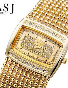 お買い得  ブレスレットウォッチ-ASJ 女性用 宝飾腕時計 ダミー ダイアモンド 腕時計 ブレスレットウォッチ ファッションウォッチ 日本産 クォーツ ラインストーン 模造ダイヤモンド 銅 バンド ぜいたく 光沢タイプ Elegant シルバー ゴールド