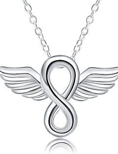 Kadın's Erkek Açıklama Kolye Gümüş Kaplama Moda Gümüş Mücevher Için Günlük 1pc