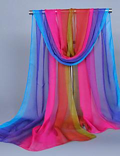 cheap Fashion Scarves-Women's Cute Silk Rectangle Print