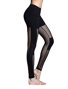 Dame Joggebukser Fort Tørring Pustende Tights Leggings Bunner til Yoga & Danse Sko Pilates Trening & Fitness Fritidssport Løp Polyester