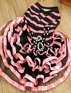 billiga Hundkläder-Katt Hund Klänningar Hundkläder Prinsessa Fuchsia Grön Tyg Kostym För husdjur Dam Gulligt Ledigt/vardag Födelsedag Vändbar Mode Bröllop