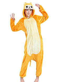Kigurumi Pyjamas Ape Kostume Gul Fløyel Mink Kigurumi Trikot / Heldraktskostymer Cosplay Festival / høytid Pysjamas med dyremotiv