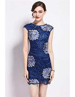 cheap MARCOBOR-Women's Sheath Dress - Embroidered, Artistic Style