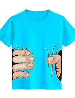 Painettu T-paita Rento/arki Urheilu Koulu Puuvilla Kesä Lyhythihainen Normaali