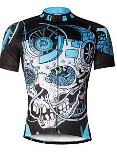 חולצת ג'רסי לרכיבה בגדי ריקוד גברים שרוולים קצרים אופניים ג'רזי צמרות ייבוש מהיר עמיד אולטרה סגול נושם רך דחיסה חומרים קלים רצועות מחזירי