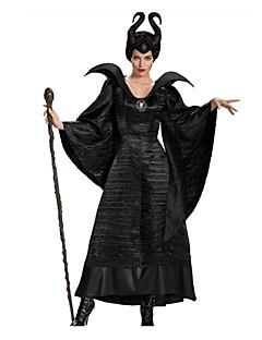 billige Halloweenkostymer-Maleficent Cosplay Kostumer Dame Halloween Karneval Festival / høytid Halloween-kostymer Helfarge