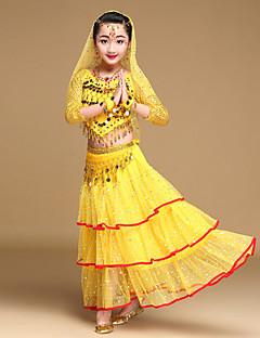 hesapli -Biz göbek dans kıyafetler çocuk performans şifon 5 adet