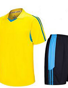 Homens Futebol Camisa + Shorts Respirável Verão Clássico Poliéster Futebol