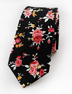 Men's Cotton Neck Tie,Vintage Cute Party Work Casual Jacquard All Seasons Black