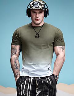 Χαμηλού Κόστους The Sports Look-Ανδρικά T-shirt Αθλητικά Ενεργό - Συνδυασμός Χρωμάτων Στρογγυλή Λαιμόκοψη Βαμβάκι