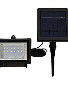 1pcs 30led solar floodlight varm kul hvit farge ip65 vanntett utendørs hage belysning sikkerhet lyskaster solar batteri drevet lampe