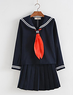 cheap Halloween & Carnival Costumes-Student / School Uniform Cosplay Costume Women's Halloween Carnival Children's Day Festival / Holiday Halloween Costumes Black Ink Blue