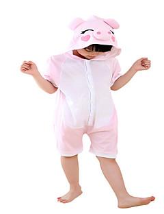 Kigurumi Pyjamas Grisunge/gris Kostume Rosa Bomull Cosplay Kostumer Trikot / Heldraktskostymer Cosplay Festival / høytid Pysjamas med