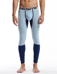 お買い得  ランニングシャツ/パンツ/ショーツ-男性用 ランニングパンツ 高通気性 モイスチャーコントロール 快適 パンツ ヨガ エクササイズ&フィットネス レジャースポーツ ランニング コットン モーダル エラステイン スリム グリーン ブルー ライトブルー ライトグリーン M L XL XXL