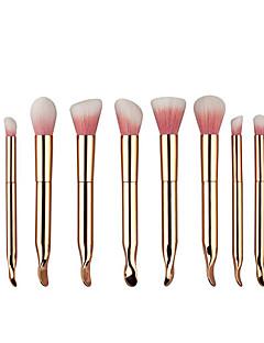 billiga Sminkborstar-10pcs Makeupborstar Professionell Borstsatser / Rougeborste / Ögonskuggsborste Nylonborste / Syntetiskt Hår Bärbar / Resan / Miljövänlig