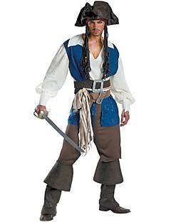Pirat Cosplay Cosplay Kostumer Maskerade Mann Halloween Karneval Festival/høytid Halloween-kostymer Hvit+Blå Mote