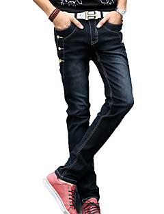 Herre Jeans Bukser Ensfarget
