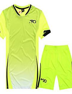 Homens Futebol Camisa + Bermuda Bib Respirável Primavera Verão Inverno Outono Clássico Poliéster
