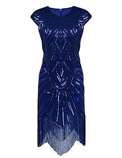Sheath / Column Jewel Neck Asymmetrical Polyester Cocktail Party Homecoming Dress with Sequins by Z&X