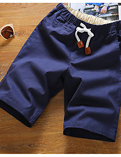 billige Plus Størrelser-Herre-Herre Afslappet Ret Shorts Bukser Ensfarvet