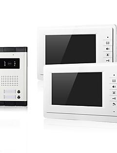 preiswerte Promotion-Zweifamiliennachtsicht mit CMOS- Kamera Eintrag 2 Monitore 7inch TFT-LCD-Bildschirm Video-Türsprechanlage für Wohnung