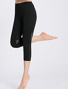 billige Løbetøj-Dame Løbebukser - Sort, Mørkeblå Sport 3/4 Tights Yoga, Campering & Vandring, Træning & Fitness Hurtigtørrende, Åndbart, Blød Elastisk