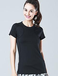billige Løbetøj-Dame Løbe-T-shirt Sport T-Shirt / Sweatshirt / Toppe - Kortærmet Yoga, Pilates, Træning & Fitness Hurtigtørrende, Høj Åndbarhed, Åndbart