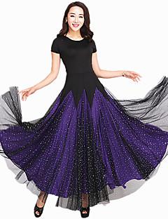 hesapli -Balo Dansı Elbiseler Kadın's Performans Splandeks Tül Ayrık Renkler Kısa Kol Elbise