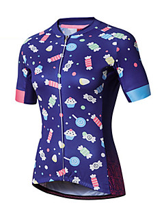halpa -Pyöräily jersey Naisten Lyhythihainen Pyörä Jersey 100% polyesteri Muoti Kevät Kesä Vapaa-ajan urheilu Erämaa