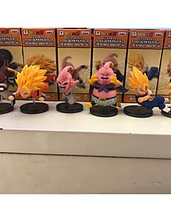 billige Anime cosplay-Anime Action Figurer Inspirert av Dragon Ball Goku PVC 8cm CM Modell Leker Dukke Herre Dame
