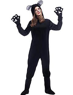 billige Halloweenkostymer-Ulv Cosplay Kostumer Party-kostyme Dame Jul Halloween Karneval Nytt År Festival / høytid Halloween-kostymer Helfarge