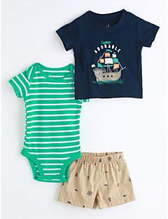 תִינוֹק ילדים יום יומי\קז'ואל גאומטרי סט של בגדים,עם דמויות מצוירות