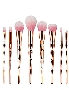 10pcs Pro Diamond Shape Cosmetic Makeup Brush Set Powder Eyeshadow Brush Rainbow Golden Kit