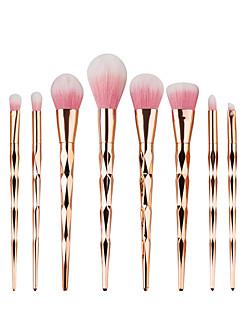 10 kpl pro timantti muoto kosmeettinen meikki harja asettaa jauhe luomiväri harja Rainbow kultainen pakki