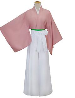 billige Anime Cosplay Tilbehør-Japansk Kimono Inspirert av Cosplay Yukimura Chizuru Anime Cosplay-tilbehør Belte Mer Tilbehør Kimono Frakke Bomull Kvinnelig
