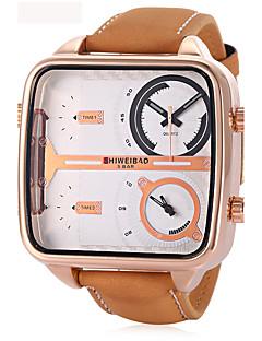 Herrn Erwachsene Armbanduhr Einzigartige kreative Uhr Sportuhr Modeuhr Chinesisch Quartz Kalender Wasserdicht Echtes Leder Band Charme