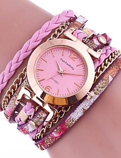 billige Armbåndsure-Dame Quartz Armbåndsur Farverig Læder Bånd Vedhæng Sort Hvid Blåt Rød Brun Grøn Guld Pink
