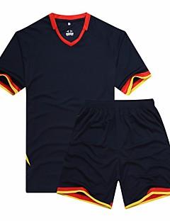 tanie Koszulki piłkarskie i szorty-Piłka nożna T-shirt Topy Lato Jendolity kolor Nadruk Coolmax Bieganie Badminton