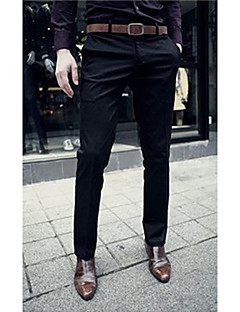 Men's Mid Rise Micro-elastic Suit Slim Business Pants,Active Suit Slim Business Pure Color Solid