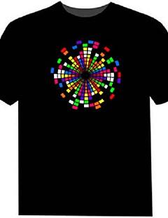 führte t-shirts 100% baumwolle 2 aaa batterien hochwertige nachtlicht