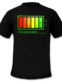 led trička 100% bavlna 2 aaa baterie vysoce kvalitní noční osvětlení