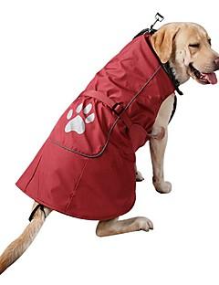 billiga Hundkläder-Hund Kappor Tröja Hundkläder Enfärgad Röd Blå Nylon Manchester Kostym För husdjur Herr Dam Ledigt/vardag Mode Sport